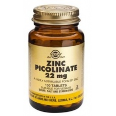 Solgar Zinc Picolinate 22 mg