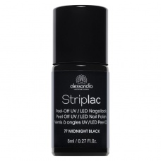 Alessandro StripLac 177 Midnight Black Led Nagellak